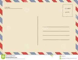blank postcard airmail